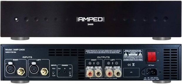 Amped America Amp 2400 -front and back